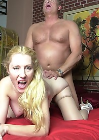 Grannyporn xxx cockslurper gets creamed in the end