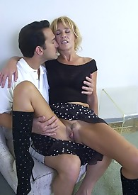 Horny granny sexes it up with big cock gets jizzed in the end