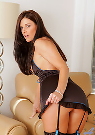 Anilos India Summer slips off her lingerie revealing her natural tits
